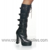 ELECTRA-2042 Black Faux Leather
